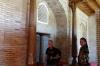 Bruce & Maria (our guide). Mausoleum of Abu Bakr Kaffal Shoshi, Khast Imom