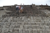 Climbing Piramide de la Luna, Teotihuacan