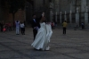 Bride & groom pics in front of the Cathedral of Toledo