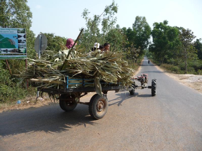 On the road from Kompong Phhluk floating village