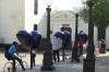 Public phone boxes, Plaza Carillo, Trinidad