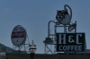 H&C Coffee sign from the Taubman Museum, Roanoke VA
