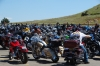 Bikers and their bikes at Devil's Tower