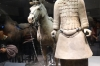 Cavalryman with his saddled war horse, Terracotta warriors of Emperor Qin, pit 2 cavalry, Xi'an