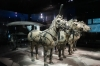 Half size replicas of the bronze horse and carriages, Terracotta warriors of Emperor Qin, Xi'an
