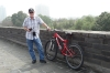 Bruce & his bike, 14.5km bike ride around the ancient city wall of Xi'an