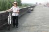 Thea & her bike, 14.5km bike ride around the ancient city wall of Xi'an