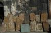 Cross-stones. Sevanavank Monastery on Lake Sevan