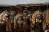 Masks for sale in the Old Fort, Zanzibar, Tanzania