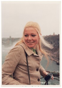 Thea at Niagara Falls in 1970